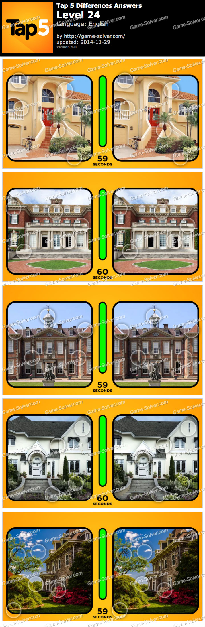 Tap 5 Differences Level 24
