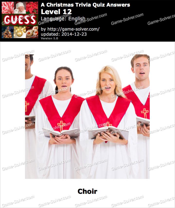 A Christmas Trivia Quiz Level 12