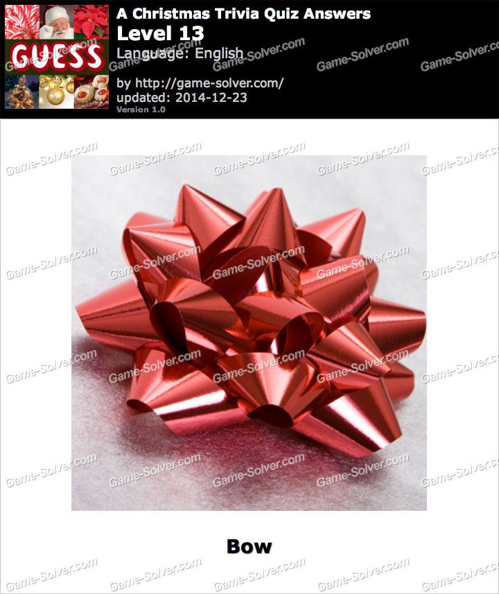 A Christmas Trivia Quiz Level 13