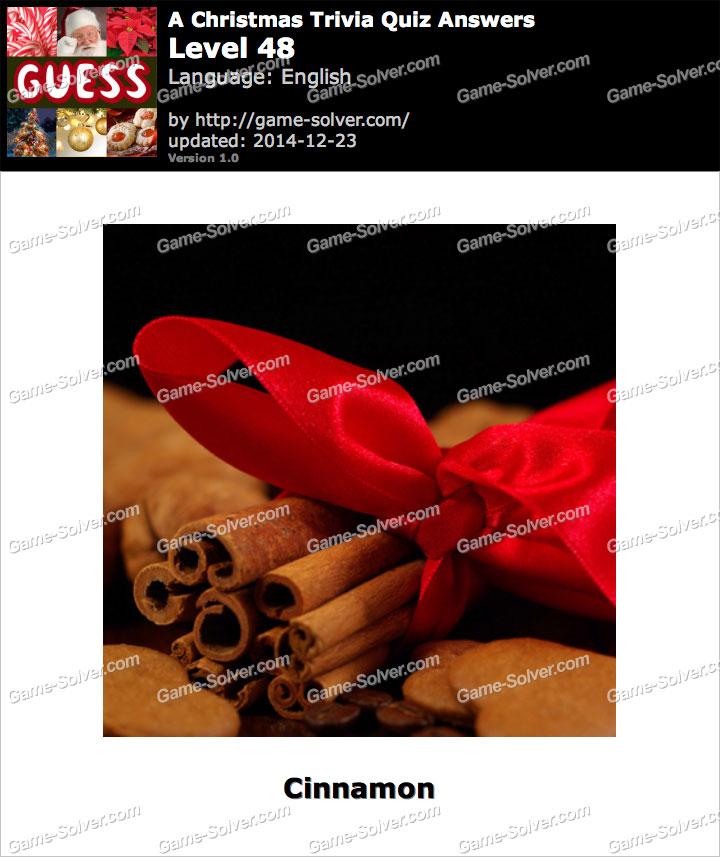 A Christmas Trivia Quiz Level 48
