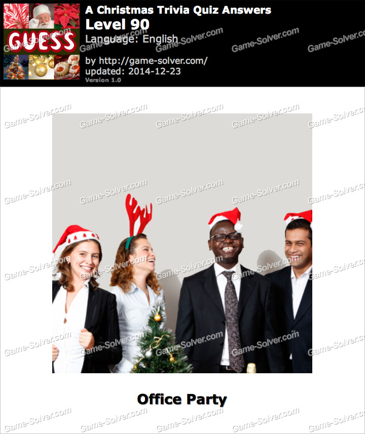 A Christmas Trivia Quiz Level 90