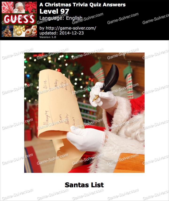 A Christmas Trivia Quiz Level 97