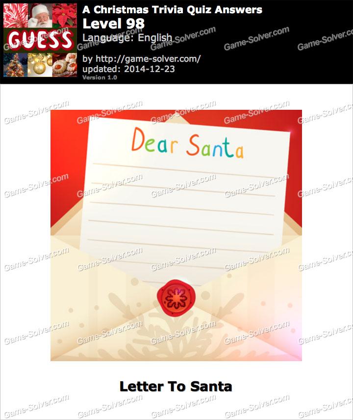 A Christmas Trivia Quiz Level 98