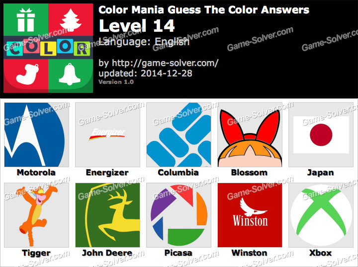 Color Mania Guess The Color Level 14