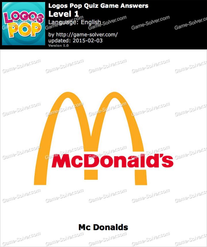 Logos Pop Quiz Game Level 1