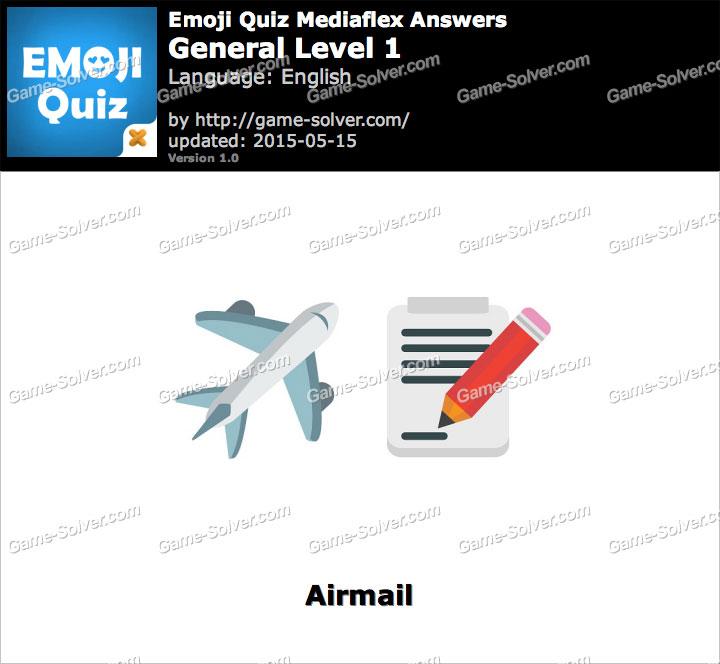 Emoji Quiz General Level 1