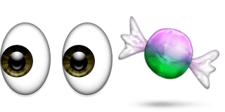 Guess Up Emoji Eye Candy