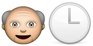 Guess Up Emoji Father Time