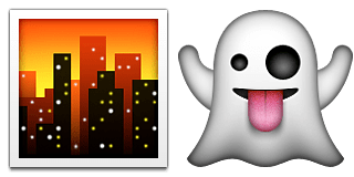 Guess Up Emoji Ghost Town