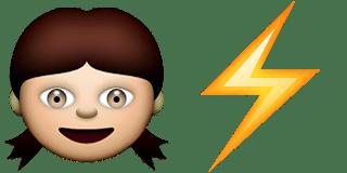 Guess Up Emoji Girl Power