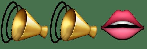 Guess Up Emoji Loud Mouth
