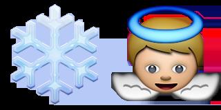 Guess Up Emoji Snow Angel