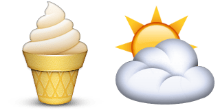 Guess Up Emoji Vanilla Sky