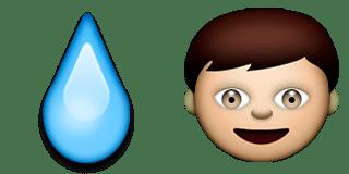 Guess Up Emoji Water-Boy
