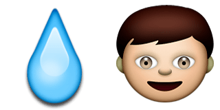 Guess Up Emoji Water Boy