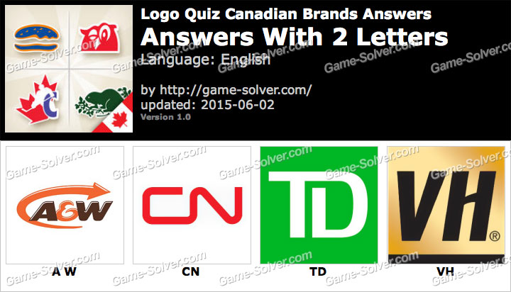 Logo Quiz Canadian Brands with 2 Letters