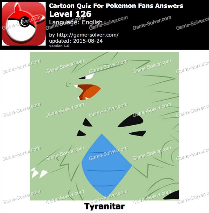 Cartoon Quiz For Pokemon Fans Level 126