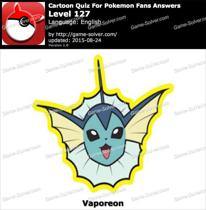 Cartoon Quiz For Pokemon Fans Level 127