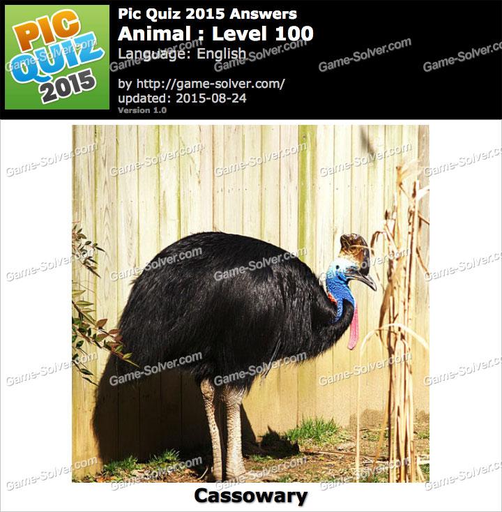 Pic Quiz 2015 Animal Level 100