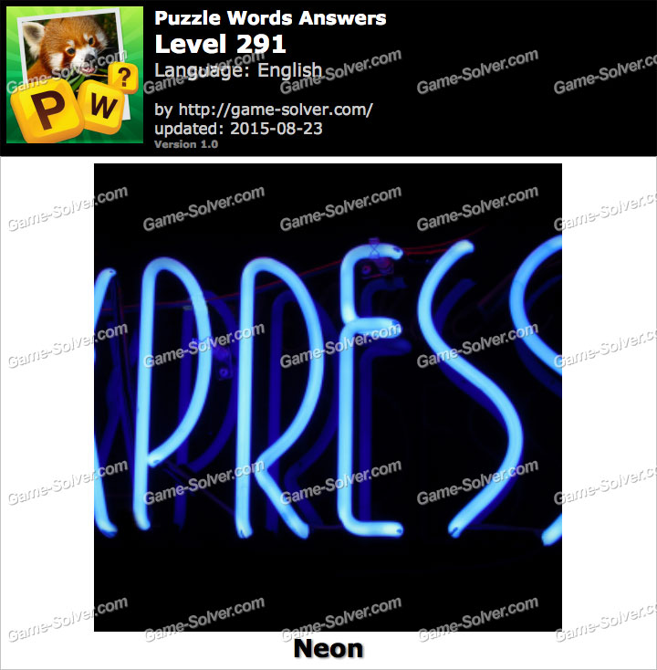 Puzzle Words Level 291