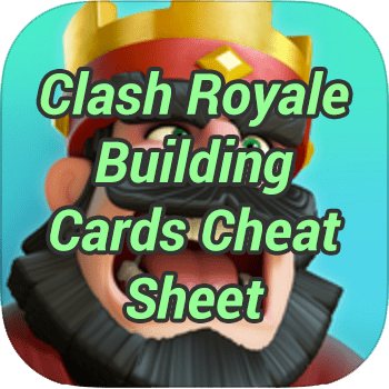 Clash Royale Building Cards Cheat Sheet