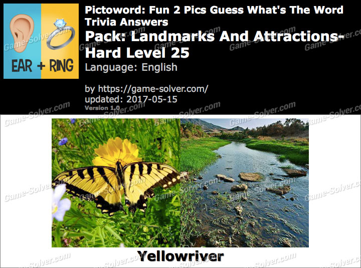 Pictoword Fun 2 Pics Landmarks And Attractions-Hard Level 25 Answers