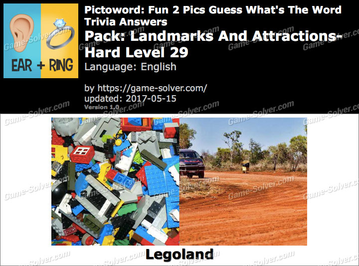Pictoword Fun 2 Pics Landmarks And Attractions-Hard Level 29 Answers