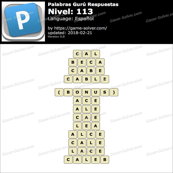 Palabras Gurú Nivel 113 Respuestas