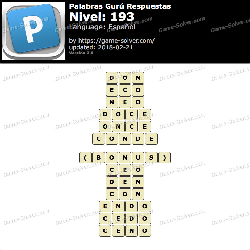 Palabras Gurú Nivel 193 Respuestas