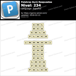 Palabras Gurú Nivel 234 Respuestas