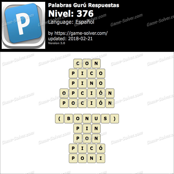 Palabras Gurú Nivel 376 Respuestas