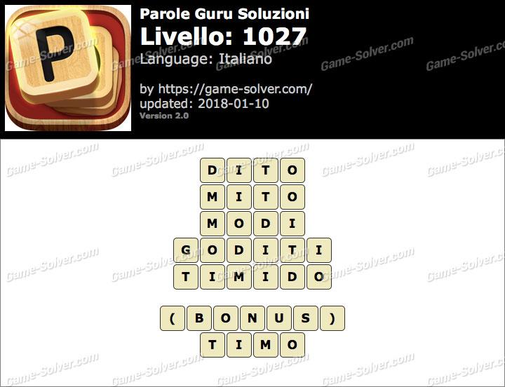 Parole Guru Livello 1027 Soluzioni