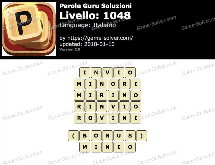 Parole Guru Livello 1048 Soluzioni
