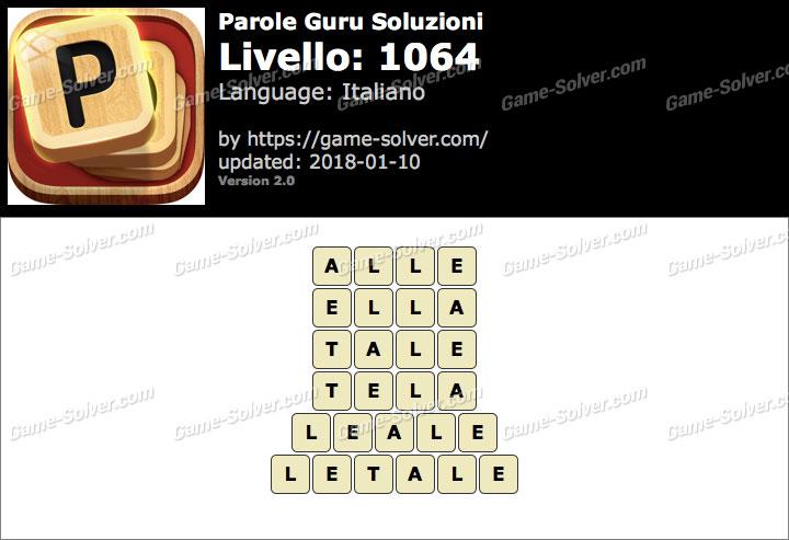 Parole Guru Livello 1064 Soluzioni
