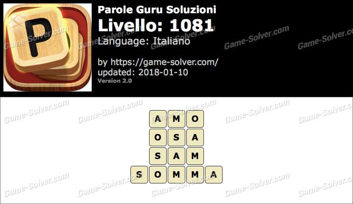 Parole Guru Livello 1081 Soluzioni