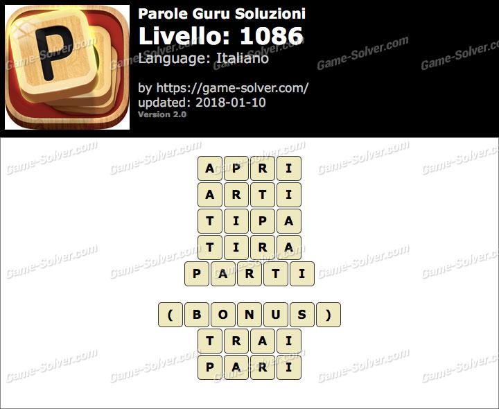 Parole Guru Livello 1086 Soluzioni