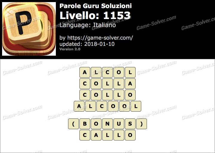 Parole Guru Livello 1153 Soluzioni