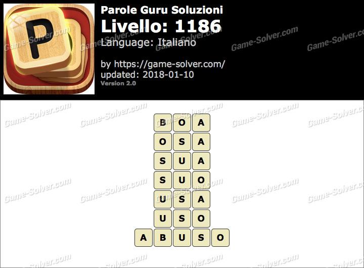 Parole Guru Livello 1186 Soluzioni