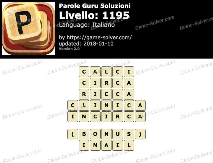 Parole Guru Livello 1195 Soluzioni