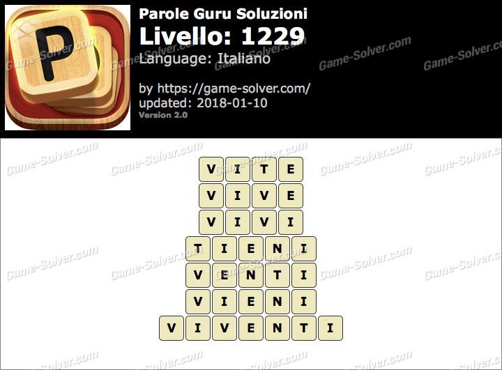 Parole Guru Livello 1229 Soluzioni