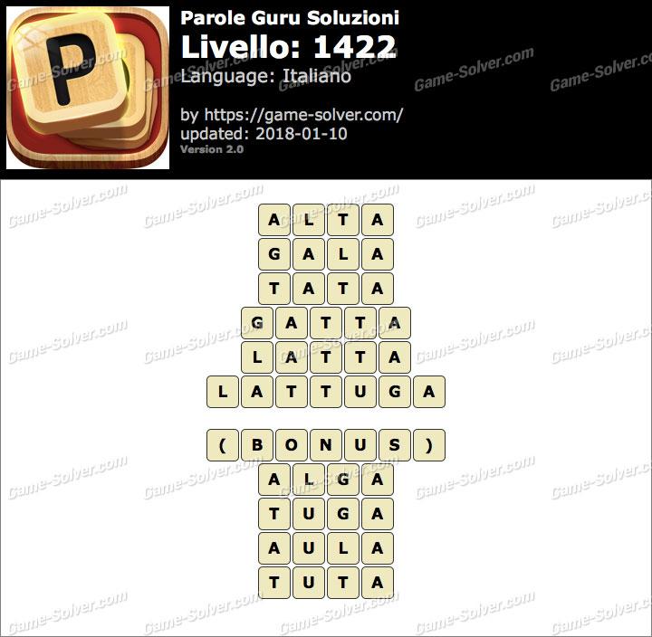Parole Guru Livello 1422 Soluzioni