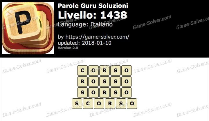 Parole Guru Livello 1438 Soluzioni