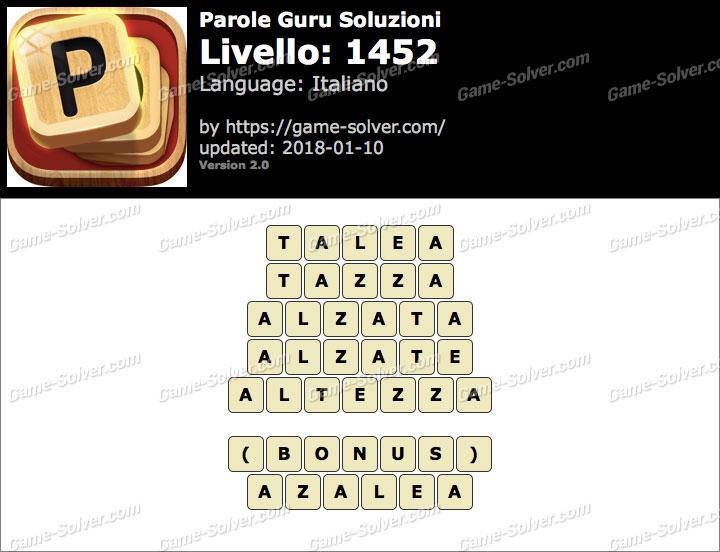 Parole Guru Livello 1452 Soluzioni