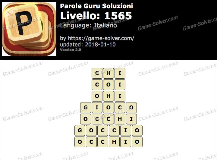 Parole Guru Livello 1565 Soluzioni