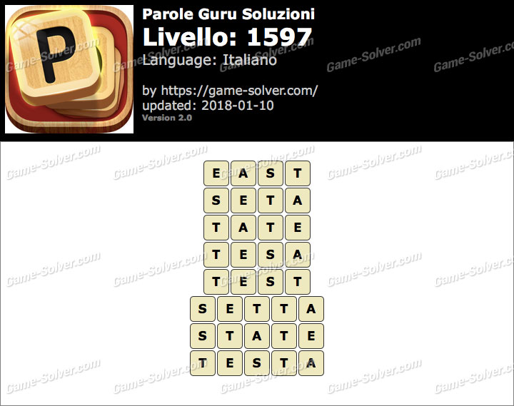 Parole Guru Livello 1597 Soluzioni