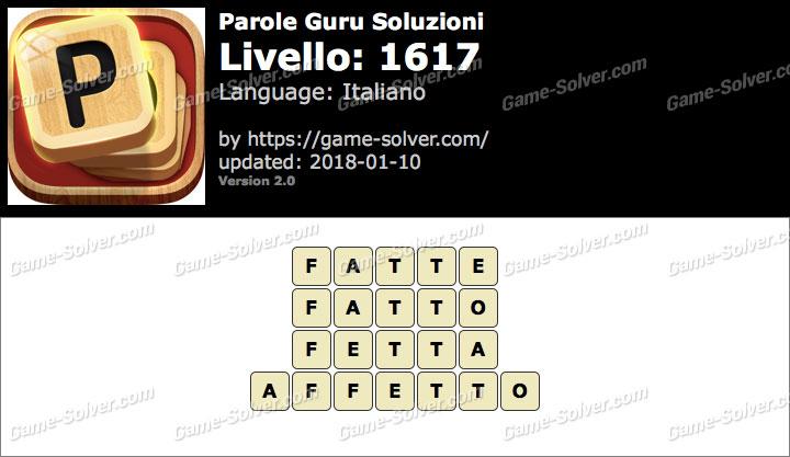 Parole Guru Livello 1617 Soluzioni