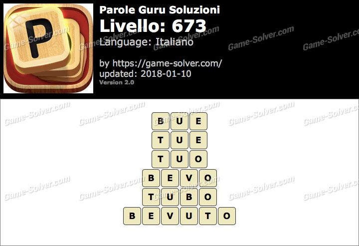 Parole Guru Livello 673 Soluzioni