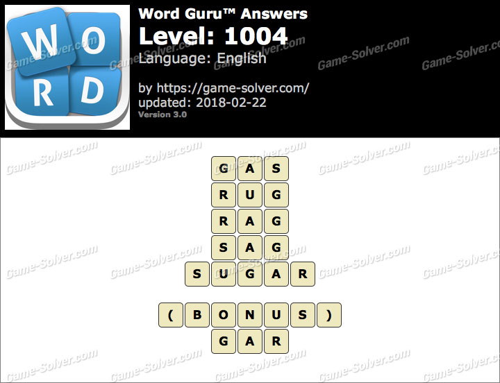 Word Guru Level 1004 Answers