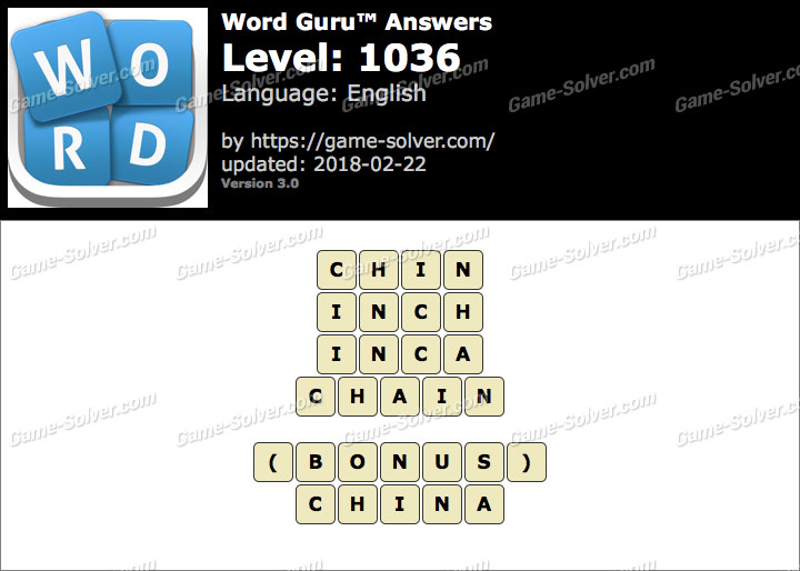 Word Guru Level 1036 Answers