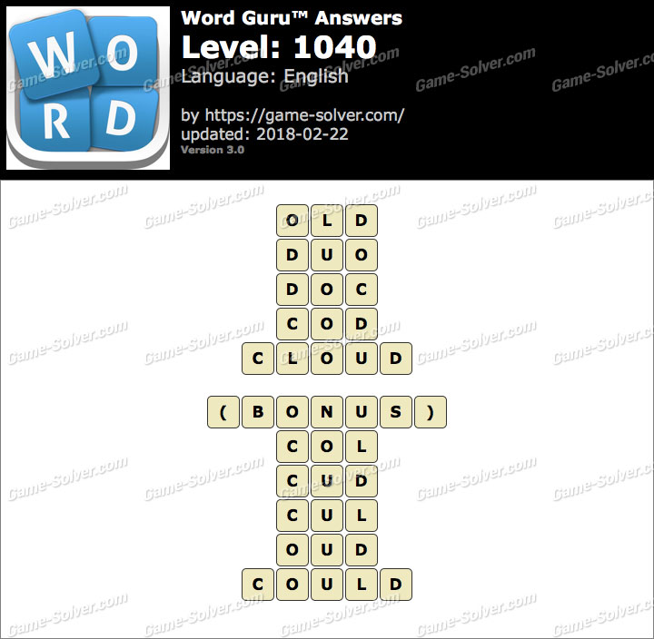 Word Guru Level 1040 Answers